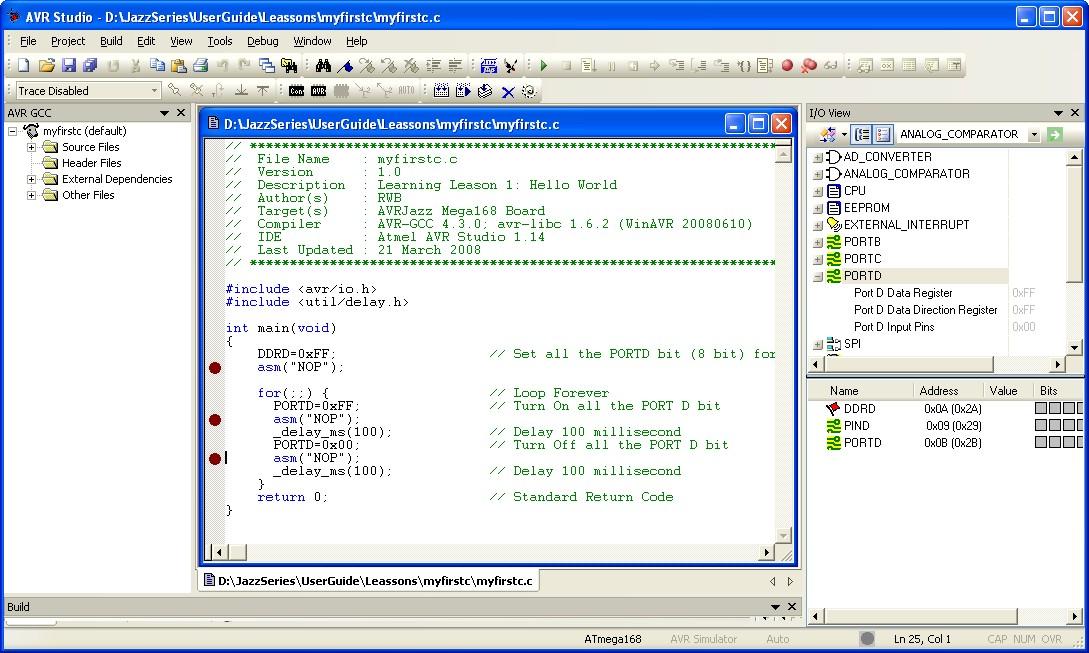 Starting Atmel AVR C Programming Tutorial 2 | ermicroblog
