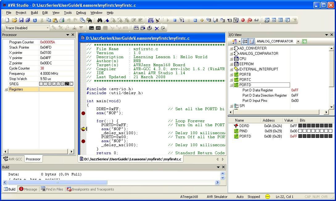 Starting Atmel AVR C Programming Tutorial 2   ermicroblog