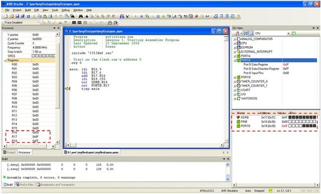 Beginners AVR Assembler Language Programming 2 | ermicroblog