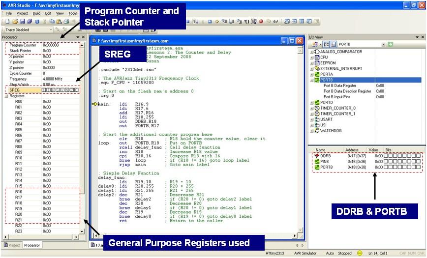 Beginners AVR Assembler Language Programming 3   ermicroblog