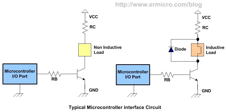 using transistor as a switch  ermicroblog, circuit diagram