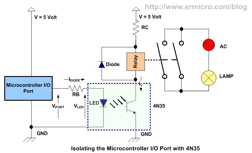 trsw11 using transistor as a switch ermicroblog 5 volt relay circuit diagram at bayanpartner.co
