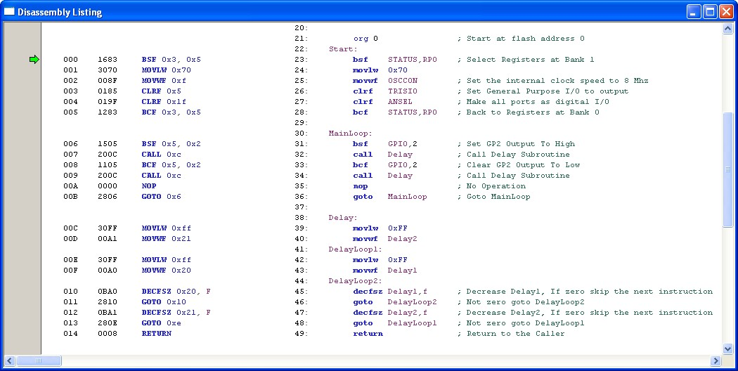 Introduction To Microchip Pic Assembler Language Part 2 Ermicroblog