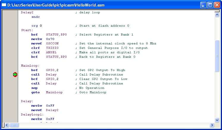 mplab assembly language tutorial
