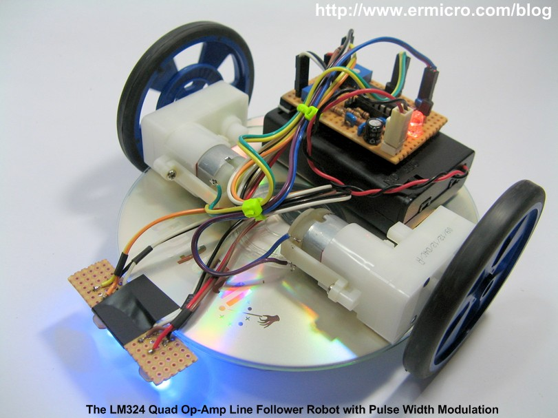 The LM324 Quad Op-Amp Line Follower Robot with Pulse Width ...